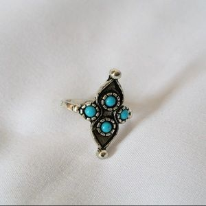 Jewelry - Silver and Turquoise Ring